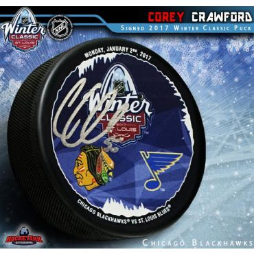 Corey Crawford 2017 NHL Winter Classic Autographed Hockey Puck