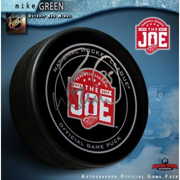 Mike Green Autographed Detroit Red Wings Farewell to the Joe Official Game Puck