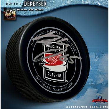 Danny DeKeyser Autographed Inaugural Season at Little Caesars Arena Detroit Red Wings Official Game Puck