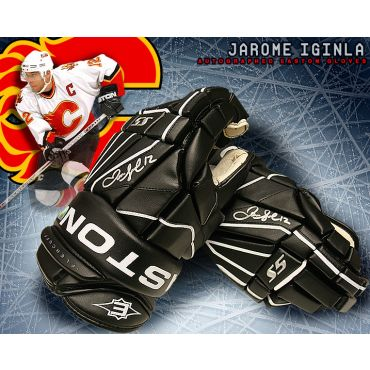Jarome Iginla Calgary Flames Autographed Easton Model Gloves