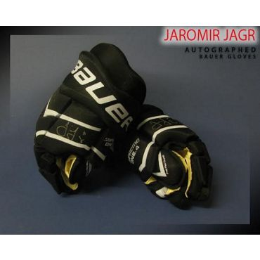 Jaromir Jagr Autographed Bauer Model Gloves