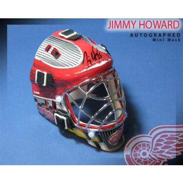 Jimmy Howard Autographed Detroit Red Wings Mini Mask