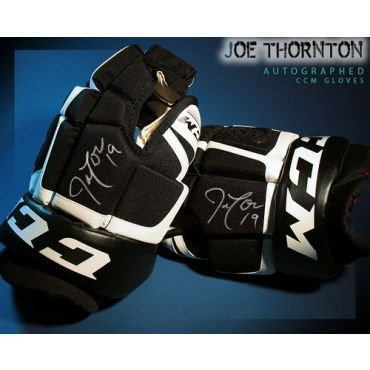 Joe Thornton Autographed CCM Model Gloves