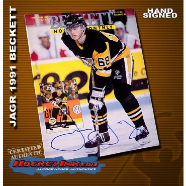 Jaromir Jagr Autographed Beckett's Hockey Monthly September 1991