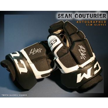 Sean Couturier Philadelphia Flyers Autographed CCM Model Gloves